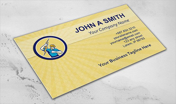 25 construction business card templates free premium for Electrician business cards templates free