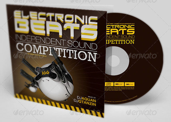 Electronic Beats CD Artwork Template