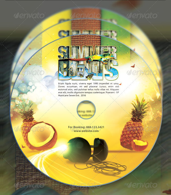 Summer Beats CD Artwork Templates