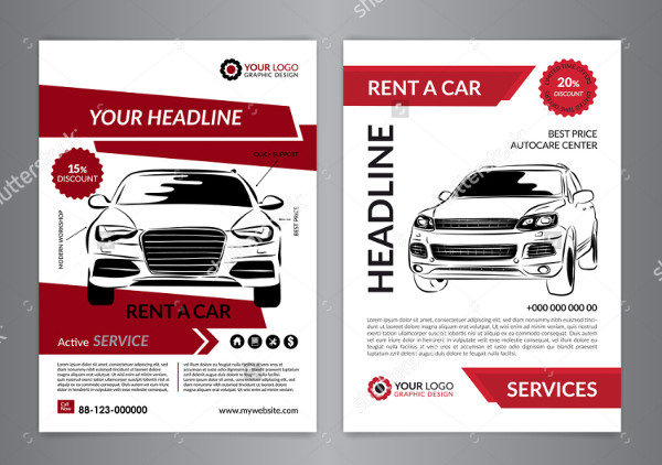 23 transport flyer templates free premium download for Automobile brochure design