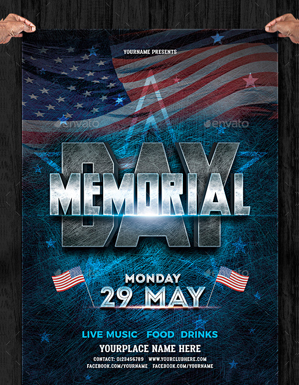 Memorial Day Printable Flyer Template