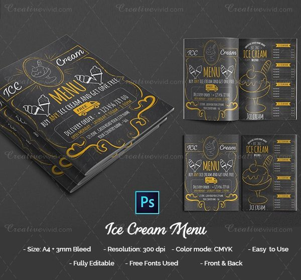 New Ice Cream Menu Design