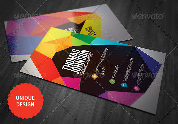 Colorful Geometry Business Cards