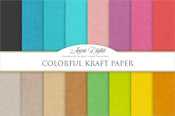 Colorful Kraft Paper Texture