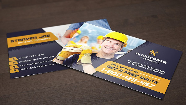 Construction Business Card Templates Free Premium Download - Construction business cards templates free
