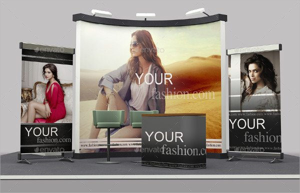 Corporate Design Booth Mock-Ups