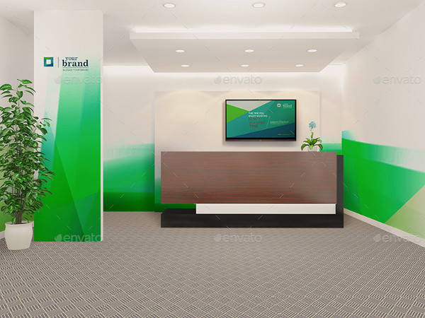 Corporate Office Interior Mockups