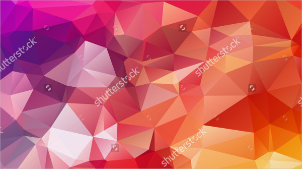 Polygonal Background Consisting of Triangles
