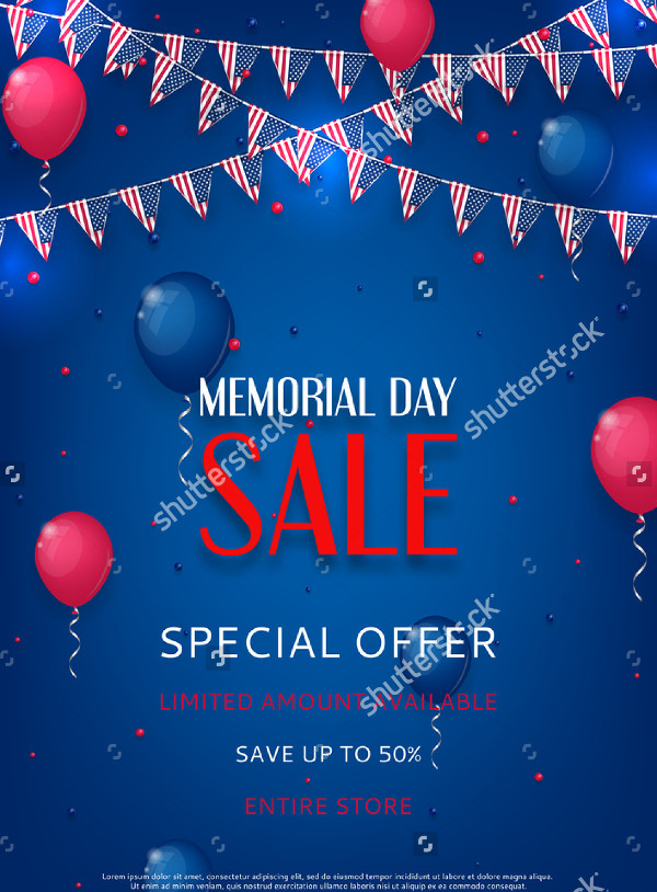Memorial Day Design Flyer Template