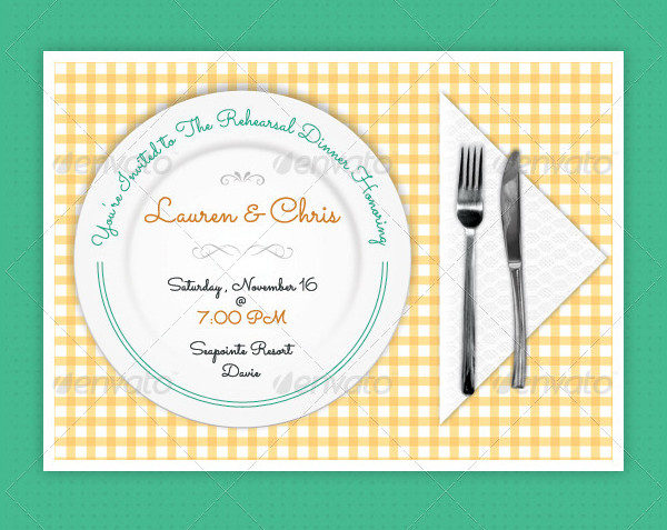 Dinner Invitation Template   Free  Premium Download