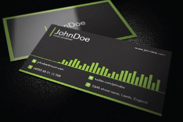 Music Business Card Templates Free Premium Download - Music business card template