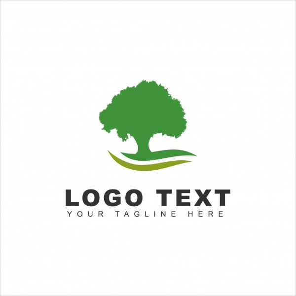 Free Green Tree Logo Template
