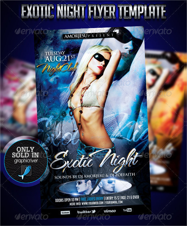 Exotic Night Flyer Template