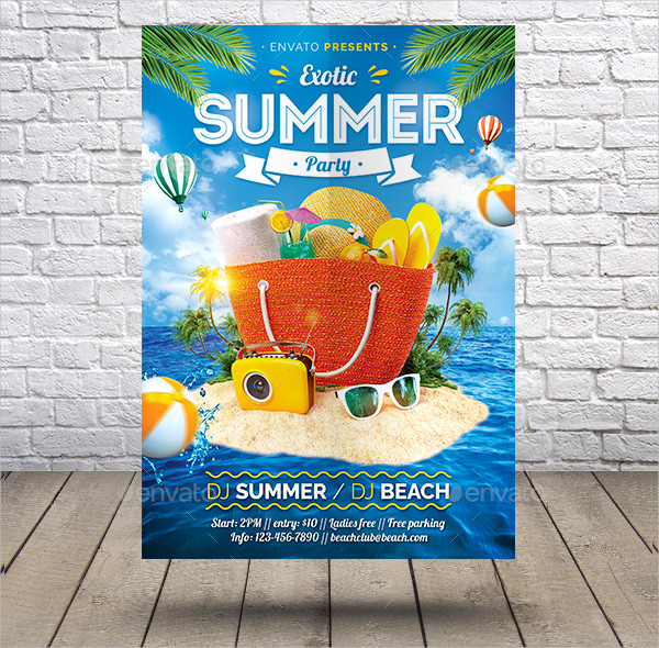 Exotic Summer Party Flyer