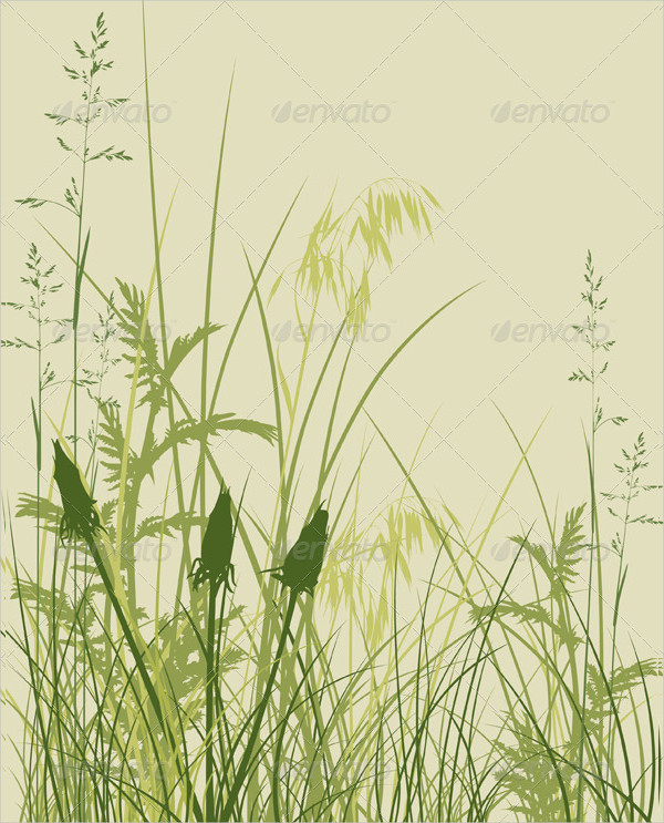 Floral Grass Background