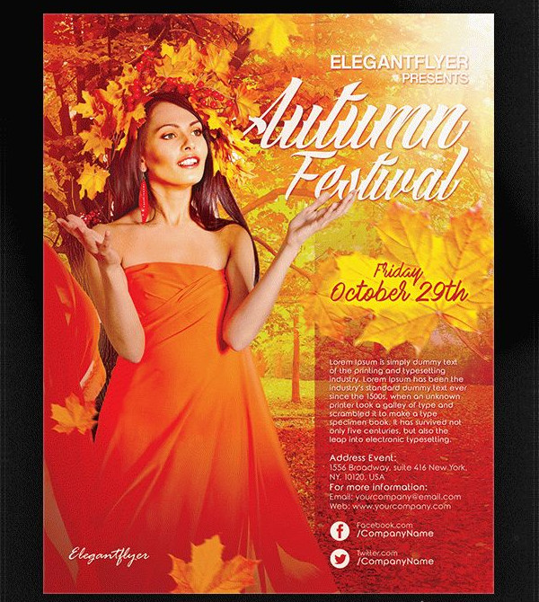 Free Autumn Festival Flyer Template