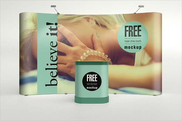 Booth Mockup Free Download