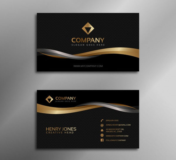 Free Printable Fancy Business Card