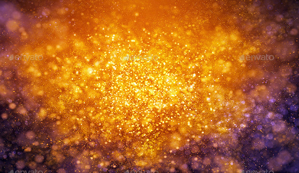 Golden Magical Particles Backgrounds