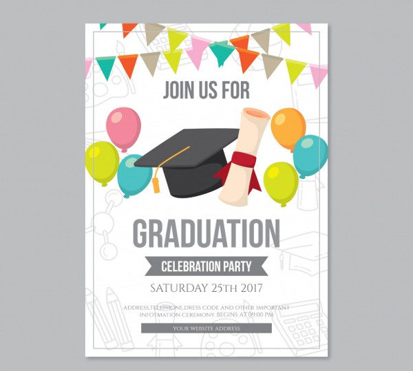 Graduation Party Brochure Free Download