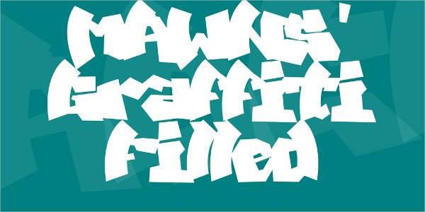 Free Graffiti Filled Font