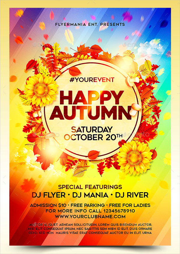 Happy Autumn Flyer Template