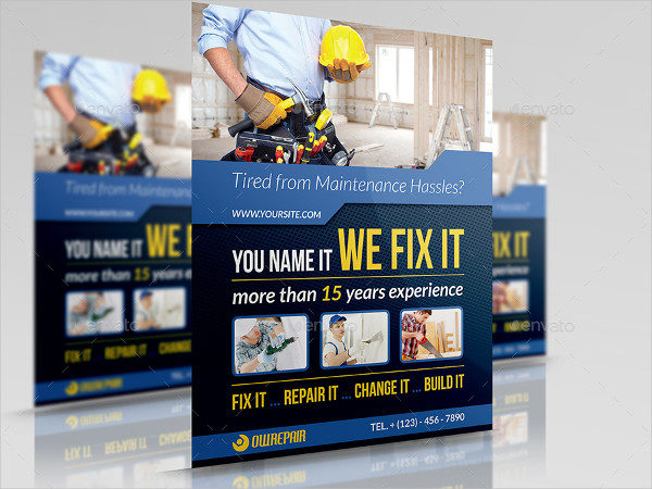 House Repair Business Flyer Template