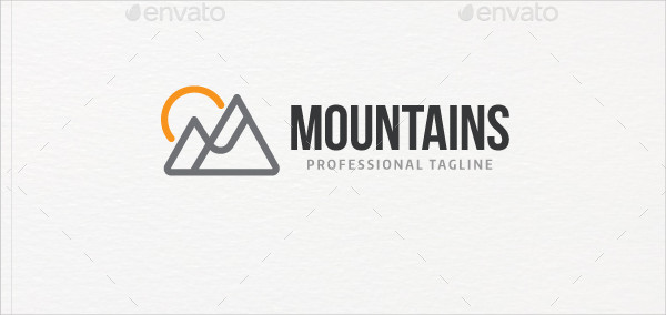 Hunting Mountains Logo Template