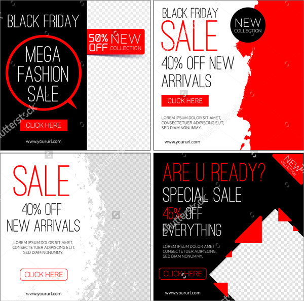 Instagram Banner Black Friday Template