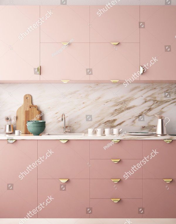 Interior Kitchen Mockup