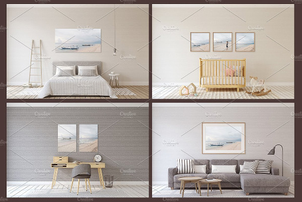 Interior Mockups in Scandinavian Style