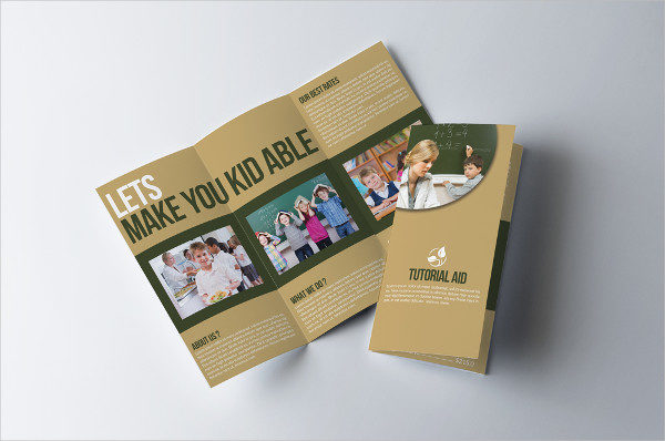 Kids Education Trifold Brochure Design