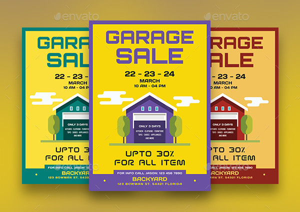 Latest Garage Sale Flyers Bundle