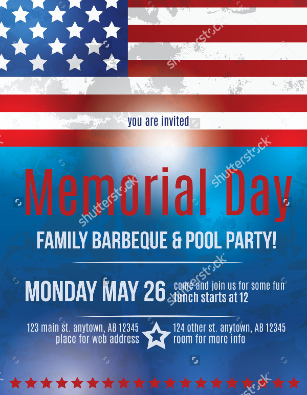 Memorial Day Barbeque Flyer