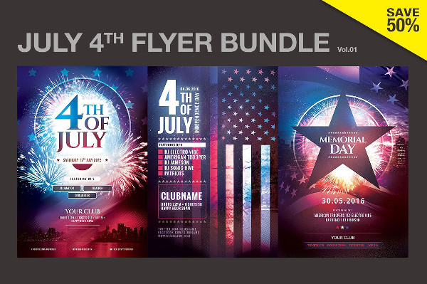Stylish Memorial Day Flyers Bundle