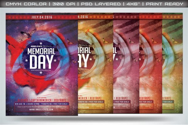 Minimal Memorial Day Flyer Template