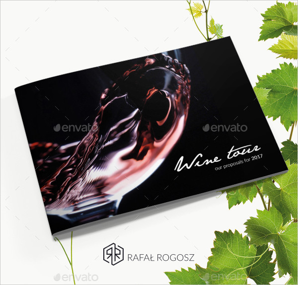 Minimalist Landscape Brochure for Wine