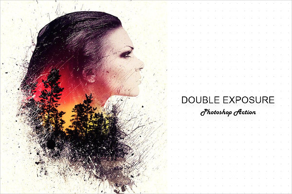 Modern Double Exposure Photoshop Action