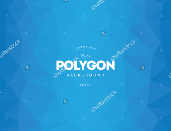 Blue Polygon Vector Background