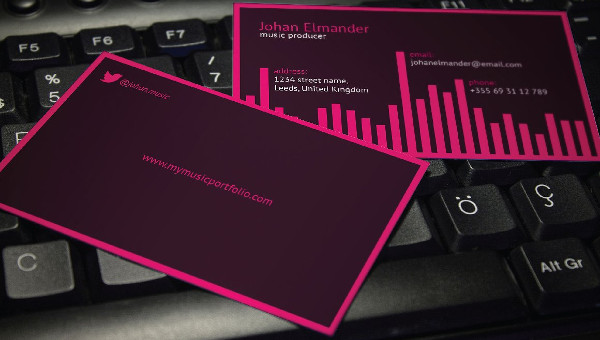 29 music business card templates free premium download cheaphphosting Images