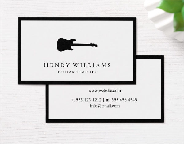 29 music business card templates free premium download music teacher professional business card template cheaphphosting Images