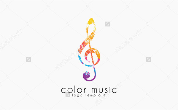 Music Note Logo in Creative Color