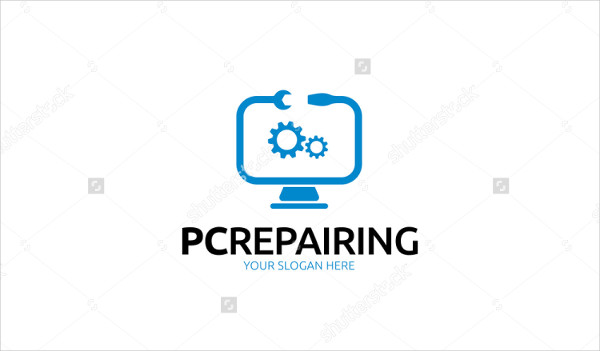 PC Repairing Logo Template
