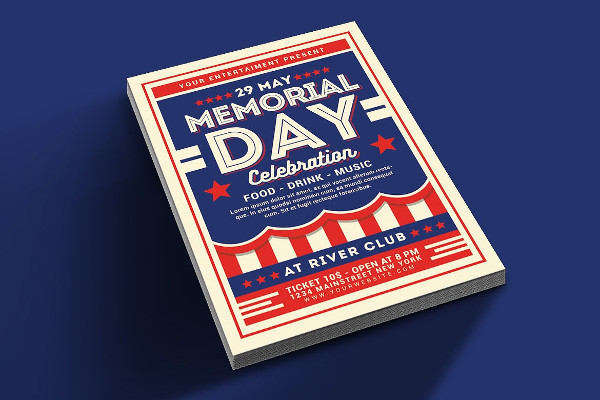 Unique Memorial Day Flyer Template