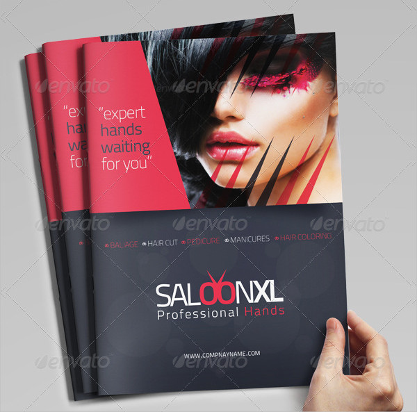 Stylish Hair Salon Brochure Template Mycreativeshop Beauty Salon