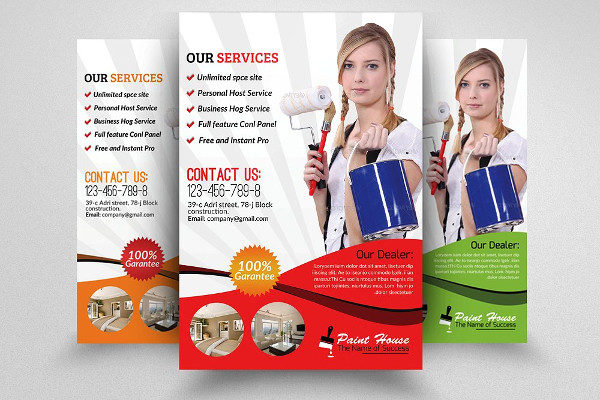 Professional House Painter Service Flyer
