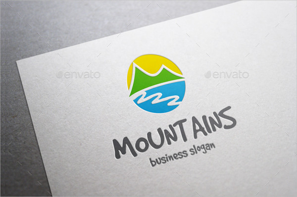 Professional Mountains Logo Template