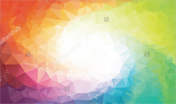Rainbow Swirl Polygon Background
