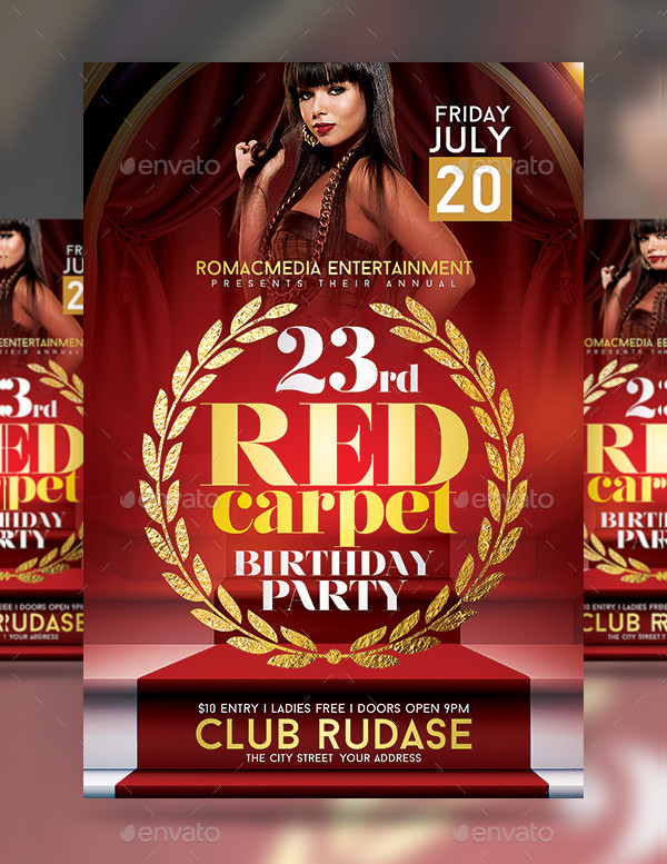 red club flyer