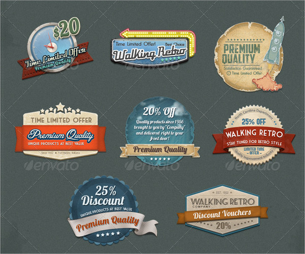 8 Web Badges & Ribbons